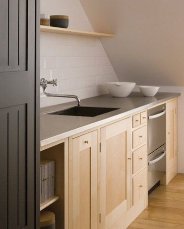 Wooden Shaker kitchen by Plain English, Love the cupboards but in a darker stain.