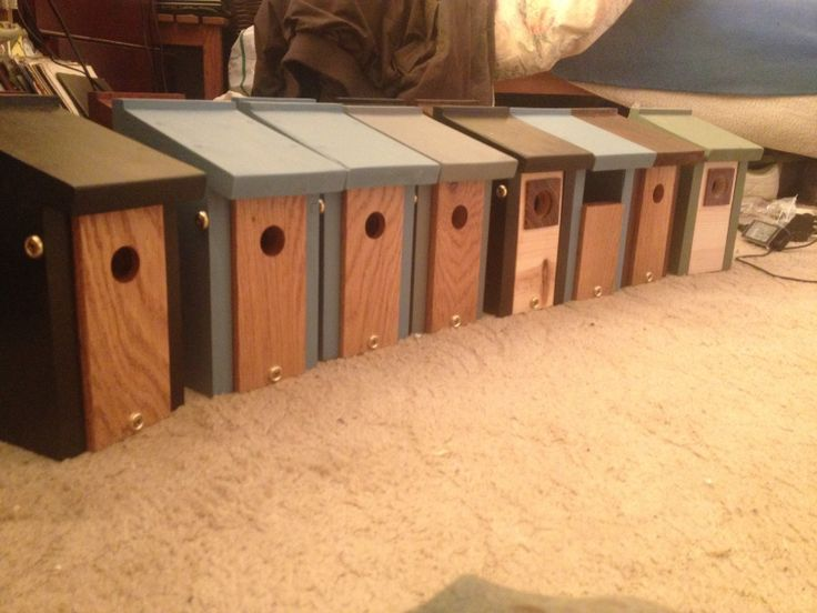 Selection of nesting boxes.