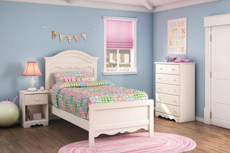 White Twin Bedroom Furniture Set