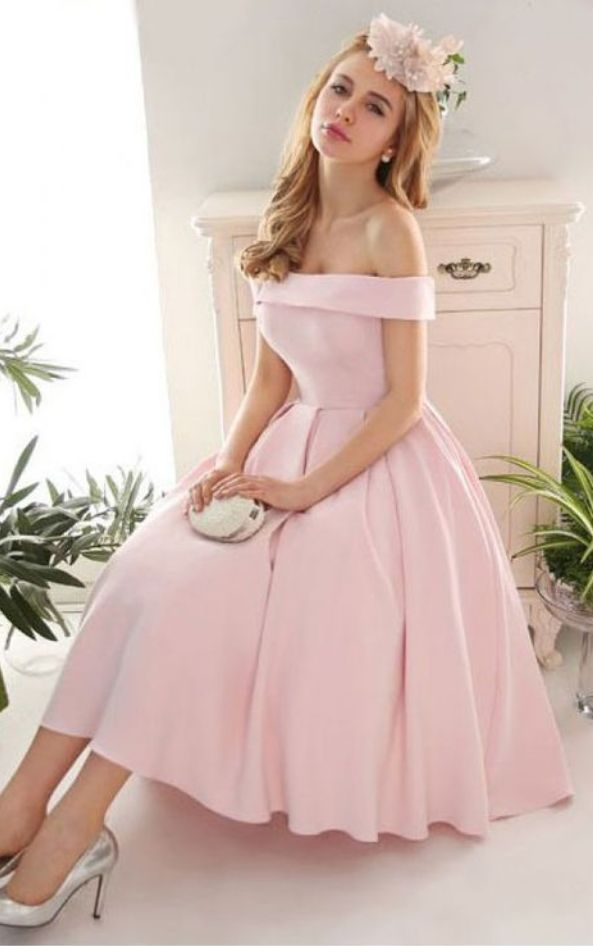 Homecoming Dress,,Pink Evening Gowns,off the shoulder Prom