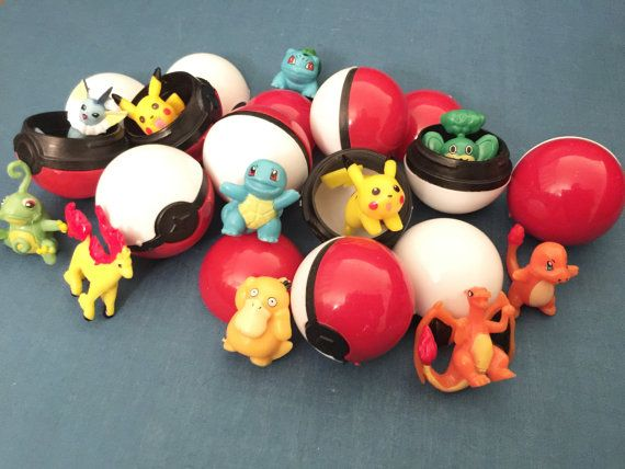 This Posting is for :  18 Pcs Pokemon Go Pokeballs and Mini Pokemon Figures Cake Topper Random Figures ~ Super Cute for Birthday Party, Party Favor, Loot bags, Cupcake Cake Toppers, Surprise Pokeball Ball Egg.  Your kids will love these Party Favor Pokemon Go Pokeballs with Figures inside Cake Toppers. Decorate it on the Cake/ Cupcakes and give to the kids to play afterwards! Makes great Christmas presents gifts and stocking stuffers! Super Cute to collect /catch em all!   Set consi...