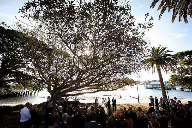 Dunbar House wedding ceremonies under the Fig Tree
