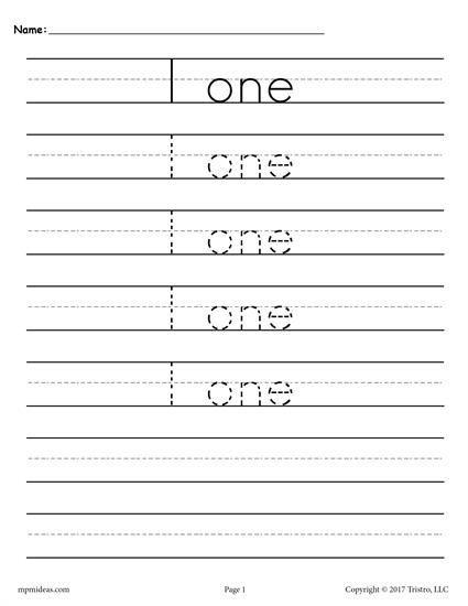 Get All 20 Number Tracing Sheets Here Mpmschoolsupplies Ideas 7711 Free Worksheets 1 HandwritingPracticePencilGrip