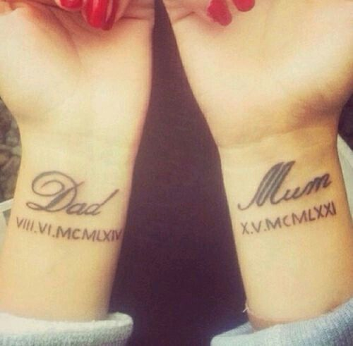 25 Best Ideas About Mom Dad Tattoos On Pinterest