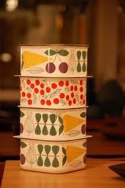Finel Vegeta and Kirsikka containers. Design Esteri Tomula.