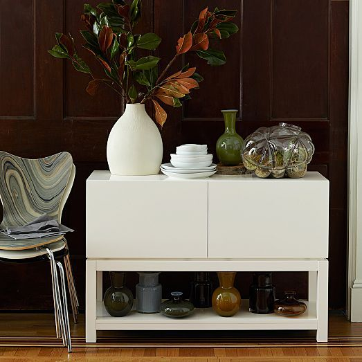 Parsons Buffet   White Lacquer | West Elm $599