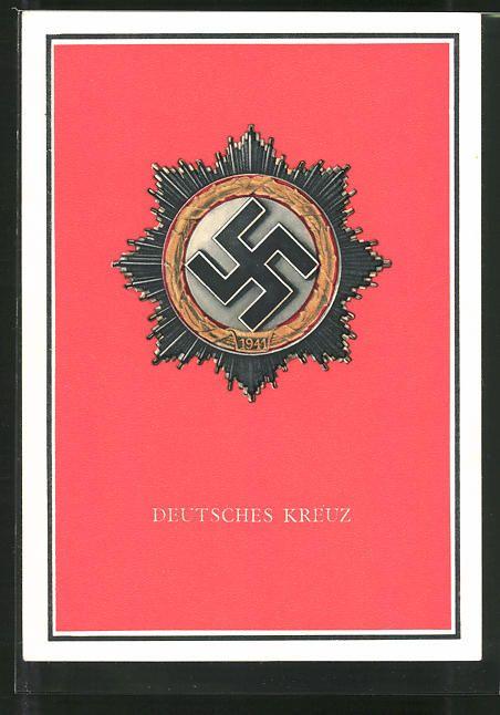 old postcard: AK Kriegsorden d. Großdeutschen Reiches, Deutsches Kreuz