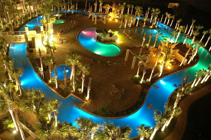 Huge Color Changing Lazy River Loved It Destin West Beach