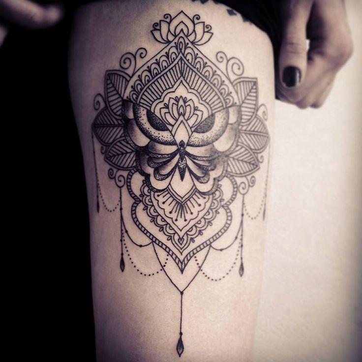 mehndi tattoo on my best, by Miss Voodoo