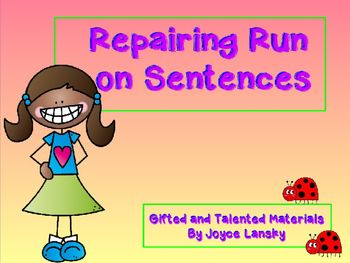 how to repair run on sentences essay Got a comma splice that you need to fix fixing run-on sentences use one of the following options to revise a run-on sentence.