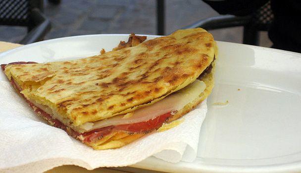 Crescia Sfogliata: amazing flatbread (with eggs and lard!) from Urbino area