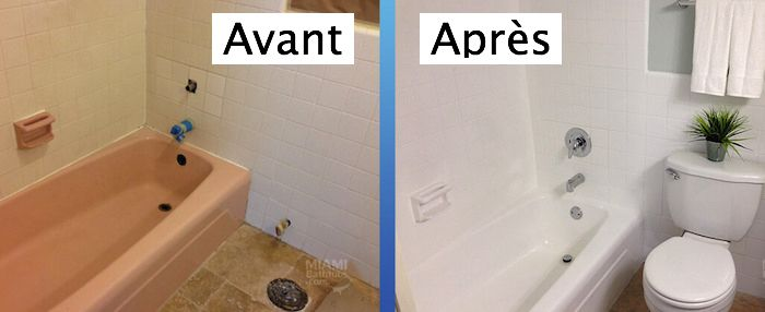1001 Idees Peinture Pour Baignoire L Astuce Beaute De La Salle De Bain Baignoire Peinture Avant Apres Salle De Bain Relooking Salle De Bain