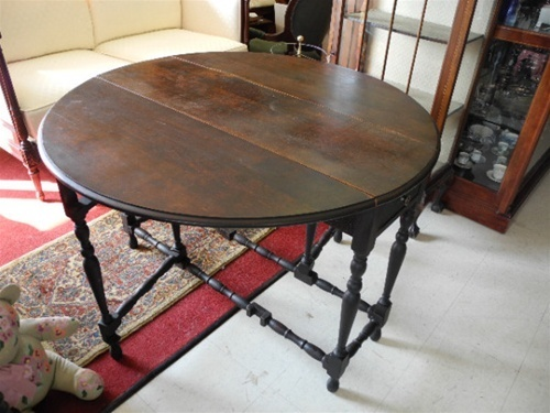 Drop Leaf, Gate Leg Table, Round Table, Mahogany, Dining Table, Sofa