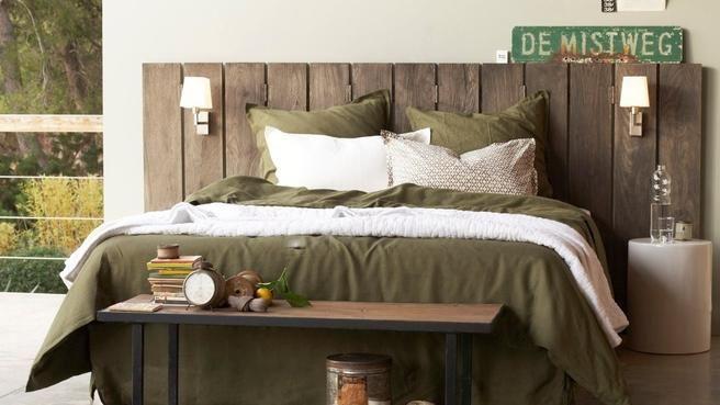 tete de lit en bois facon recup