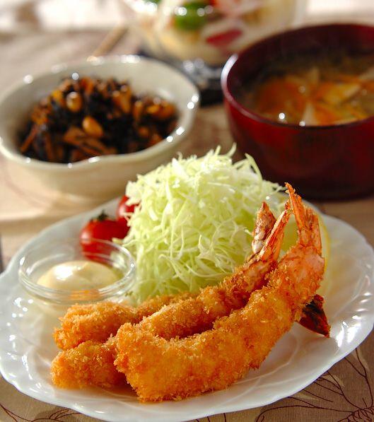「エビフライ」の献立・レシピ - 【E・レシピ】料理のプロが作る簡単レシピ/2012.03.14公開の献立です。