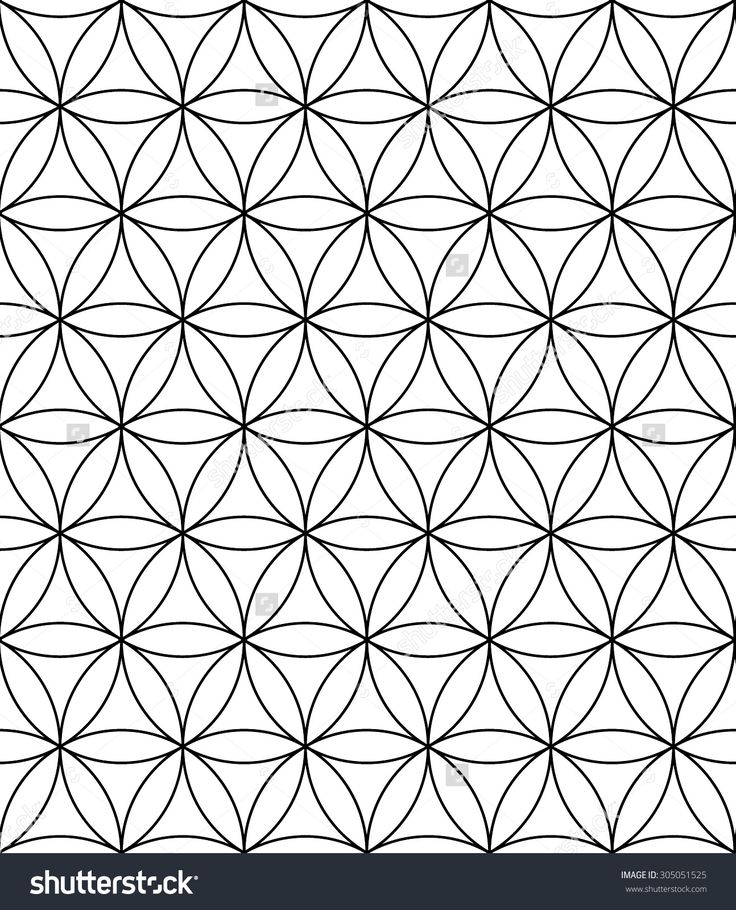 vector modern sacred geometry seamless pattern flower of life black and white textile design. Black Bedroom Furniture Sets. Home Design Ideas