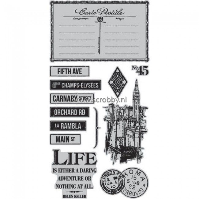 Graphic 45 Cityscapes Cling Stamps #3