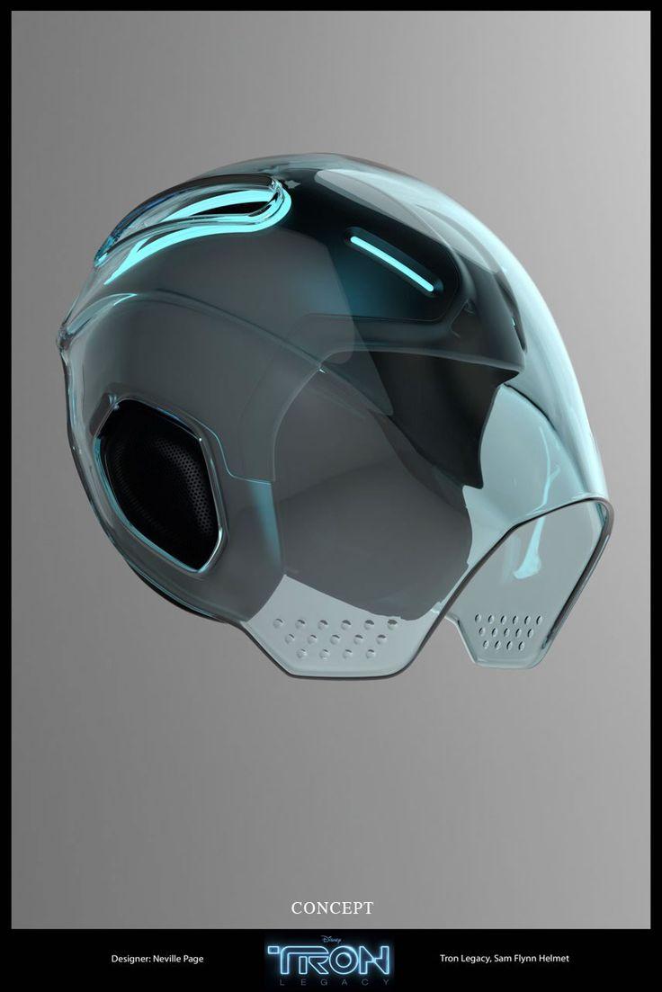TRON Legacy - helmet concept   Designer: Neville Page