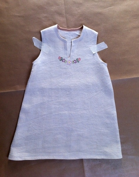natural and italian hemp-cloth dress
