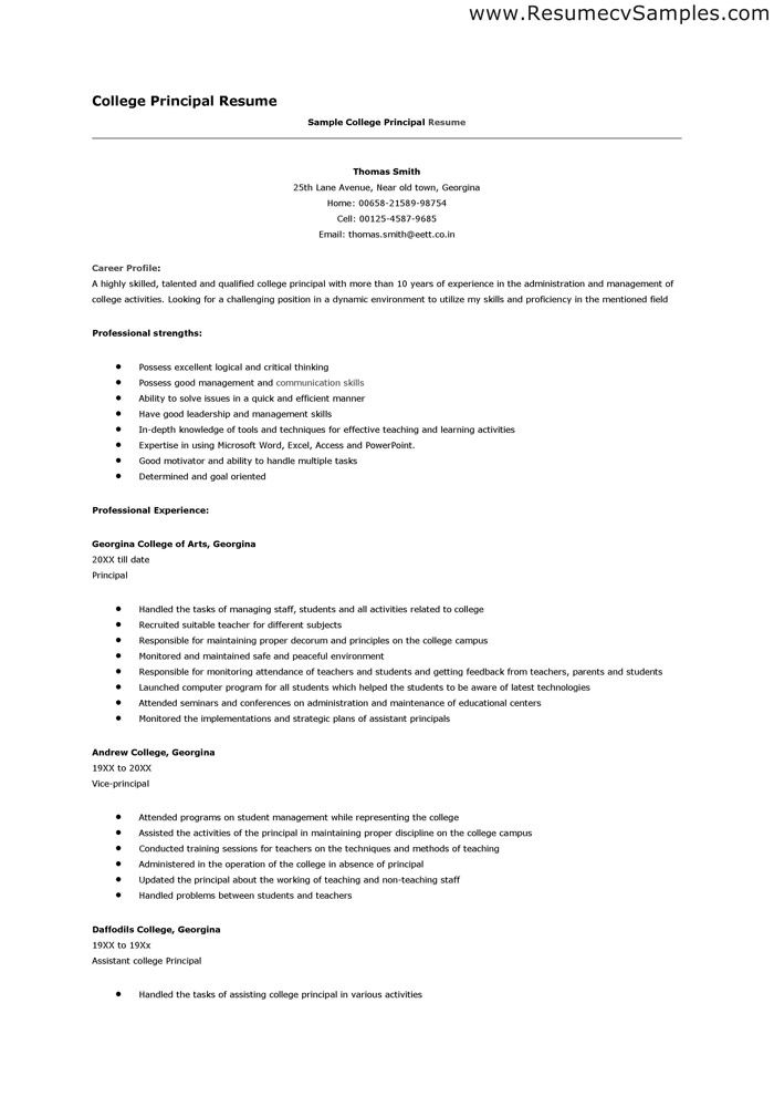 Some Sample Resumes