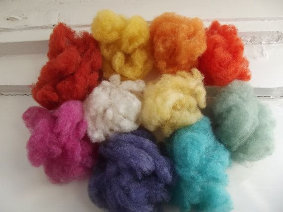 Needle Felting Wool Wet Felting Wool Top by 20thCenturyDream4You, $15.00