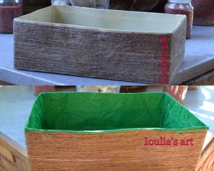 Box to keep your stuff. http://iouliasart.blogspot.gr/