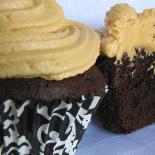 Dark Chocolate Peanut Butter cupcakes - $2.00 each - photographed by Michelle Brazeau - All rights reserved