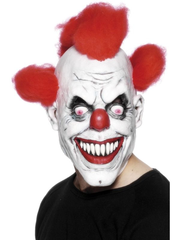 Clown 3/4 Mask  : Get It On Fancy Dress Superstore, Fancy Dress & Accessories For The Whole Family. http://www.getiton-fancydress.co.uk/accessories/masks/horroralienclownmasks/clown34mask?cPath=2964_1026_1408_1068&#.Uun8zfsry10