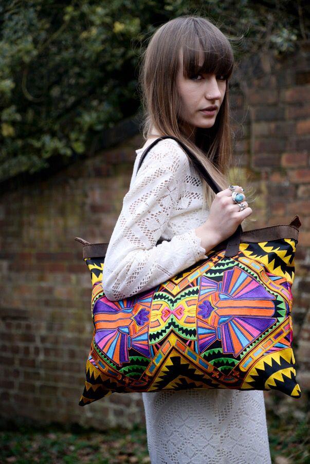 Colourful geometric shoulder bag
