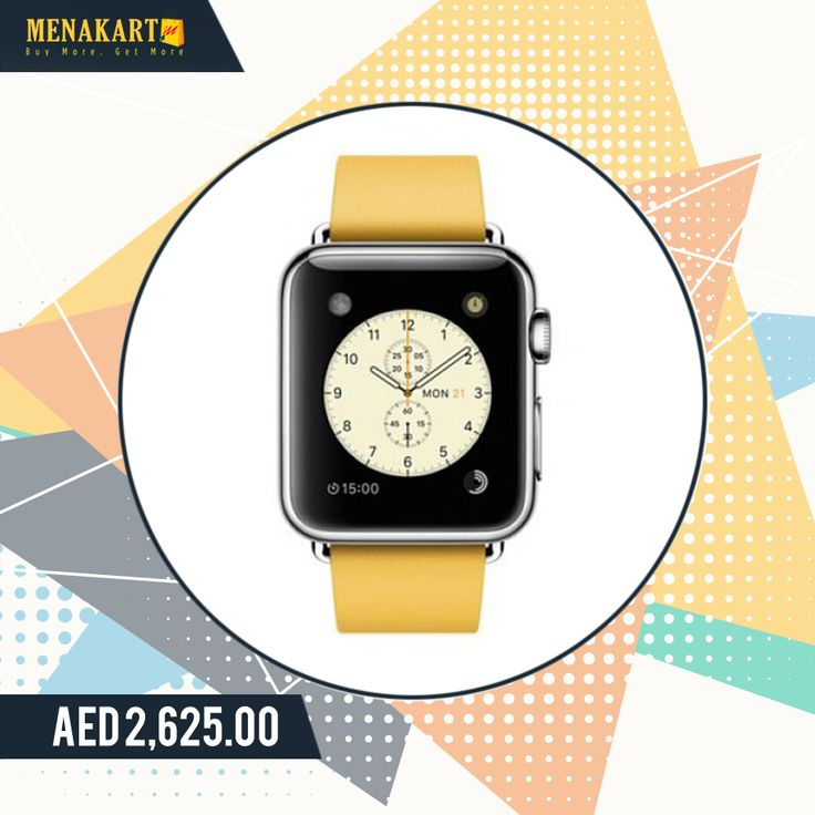Apple MMFG2 38mm Stainless Steel Case with Marigold Modern Buckle Large Size Band #apple #watch #smartwatches #online #stainless #steel #shopping #menakart
