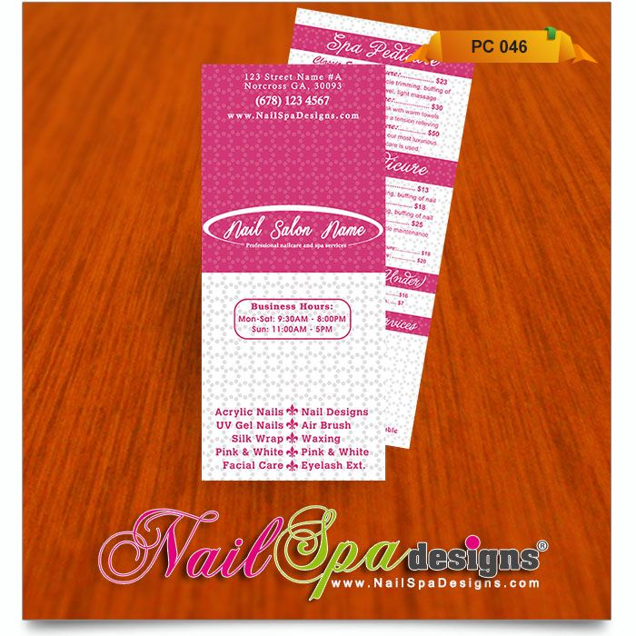 Price list template for nail salon visit www for A list nail salon