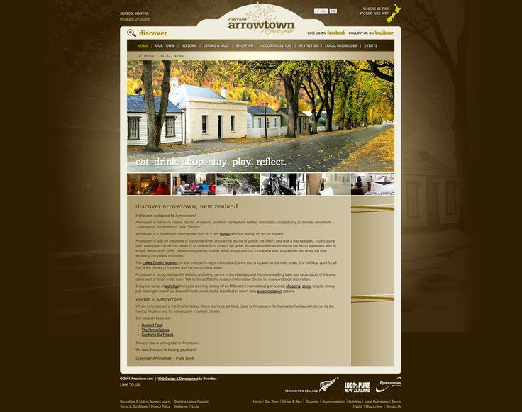 Website design & development for a township, Arrowtown, Queenstown New Zealand.  http://www.arrowtown.com
