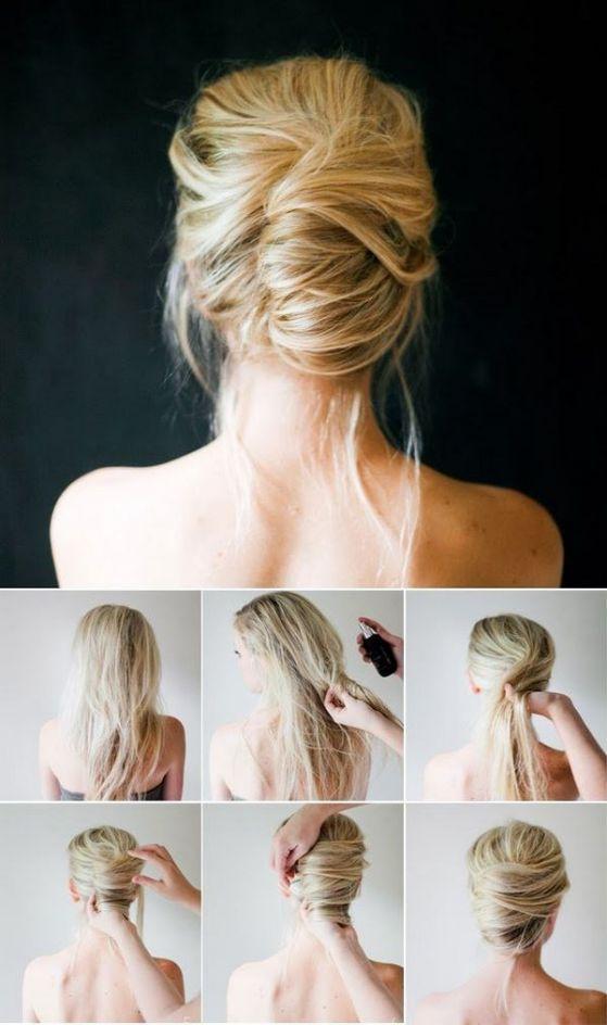 peinados faciles con laca