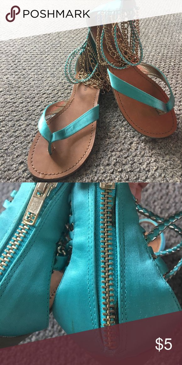 Selling this Teal sandals on Poshmark! My username is: bharth. #shopmycloset #poshmark #fashion #shopping #style #forsale #Shoes
