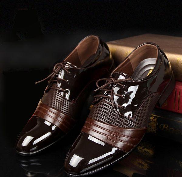 Wish | Vintage Design pentru bărbați casual pantofi de piele (negru, maro)