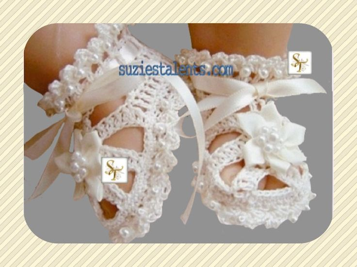 Original Designer Baby Christening Shoes With Beads