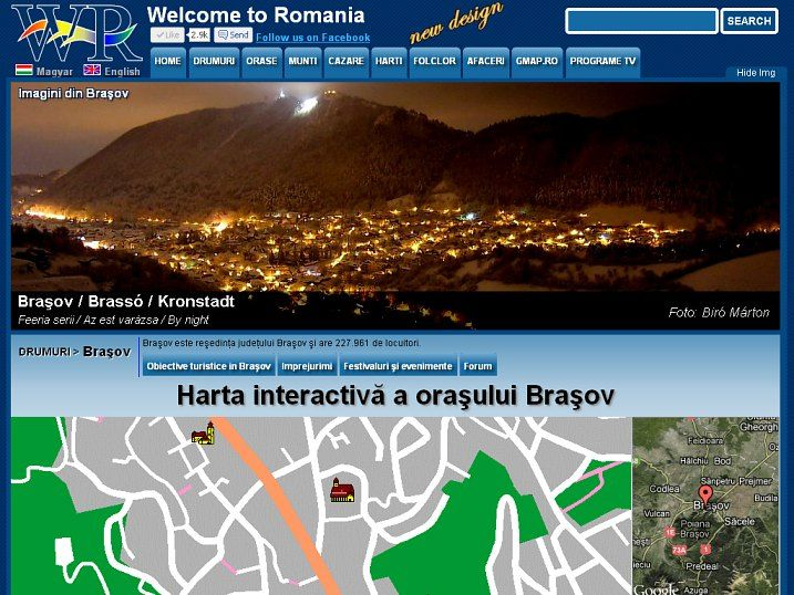 Brasov is a beautiful city. Here is the interactive map of the city with all the sights. http://www.welcometoromania.ro/Brasov/Brasov_Harta_Obiective_e.htm
