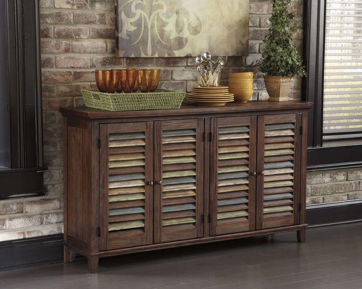 Lowest Price On Signature Design By Ashley Mestler Dark Brown Dining Room  Server D540 160