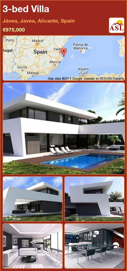 3-bed Villa in Jávea, Javea, Alicante, Spain ►€975,000 #PropertyForSaleInSpain