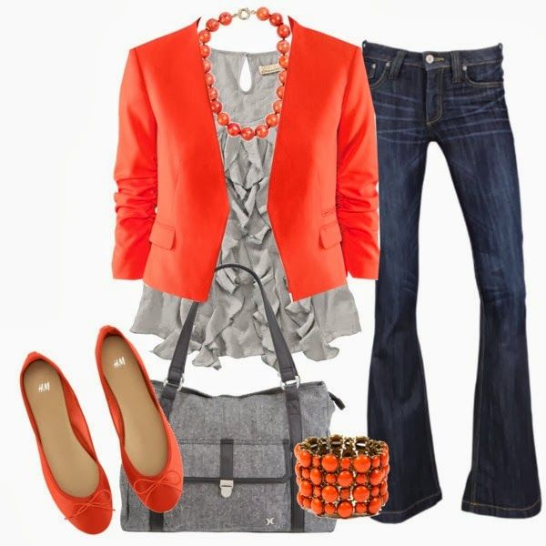 Colorful outfit ladies fashion style