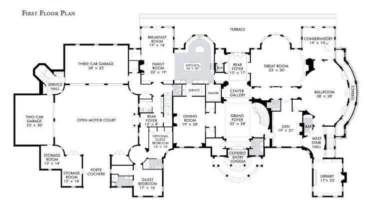 25 Best Ideas About Mansion Floor Plans On Pinterest