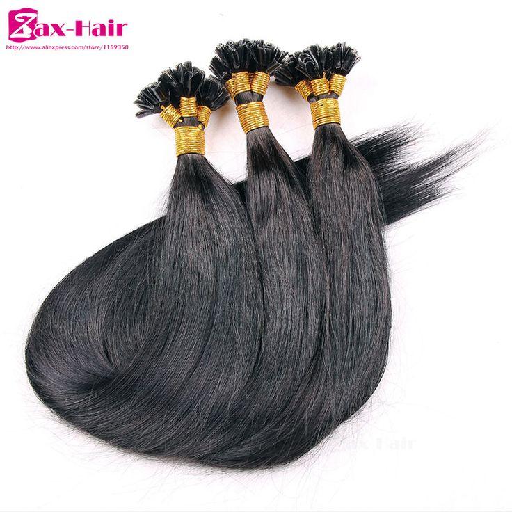 Prebonded Remy Hair Extensions 1g Nail U I Flat Tip 100