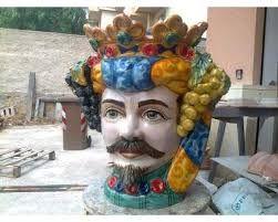 Teste di Re  in ceramica. Pottery from Caltagirone  #TestediMoro #Ceramica #Sicilia #OpuntiaPutia #OpuntiaStore