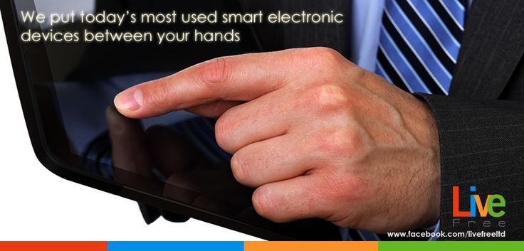 By providing our LIVE TECH services.. we put today's most used #smart electronic devices between your hands #livefree #tablet