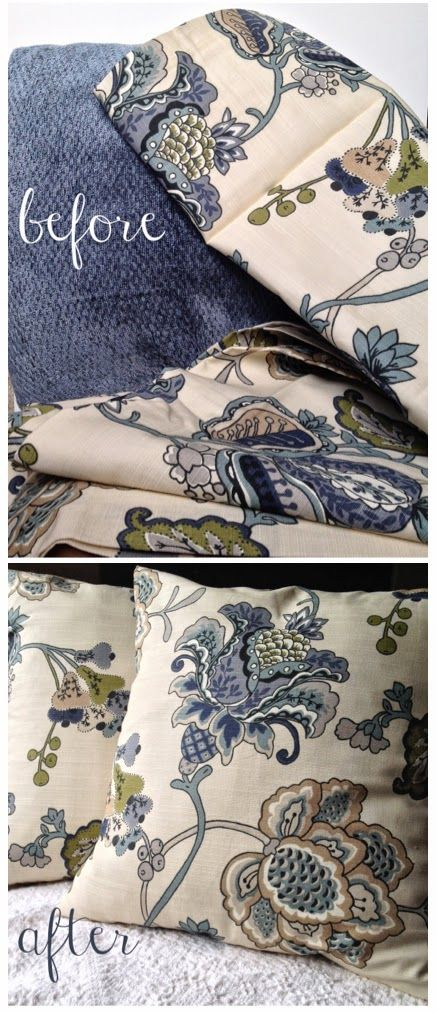 tutorial: easy sew envelope pillow covers from a World Market curtain!