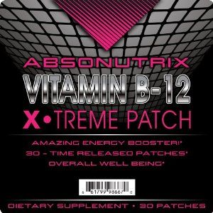 Absonutrix Vitamin B12 Health and Energy Xtreme Patch 30 Time Released Patches! by Absonutrix Vitamin B-12 Xtreme patch. $9.99. Revolutionary patch formula, No Pills, No Painful Shots, No Sublinguals. Helps increase memory and amazing energy booster. 30 Time released Patches with Maximum Absorbtion!. Supports heart health fights homocysteine. Supplies 500mg of B-12, promotes nerve health and metabolism. Do you have a feeling of weakness, tiredness and light-headednes...