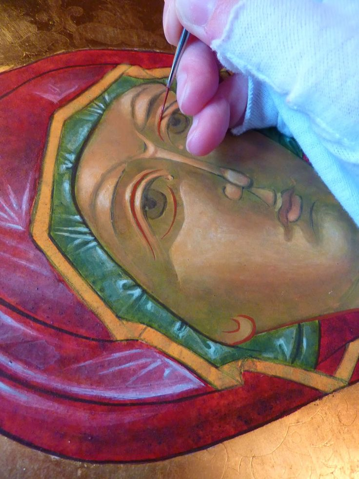 "+JMJ+ Dear fellow artists and friends, I recently finished an icon of the Theotokos, an icon which is called ""Hodigitria"" or ""Our Lady of th..."