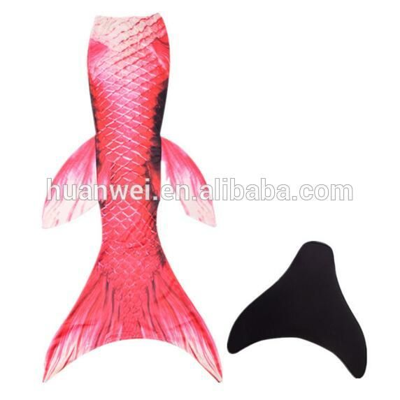 unique design Swimmable kids mermaid tail for swimming swimwear with monofins