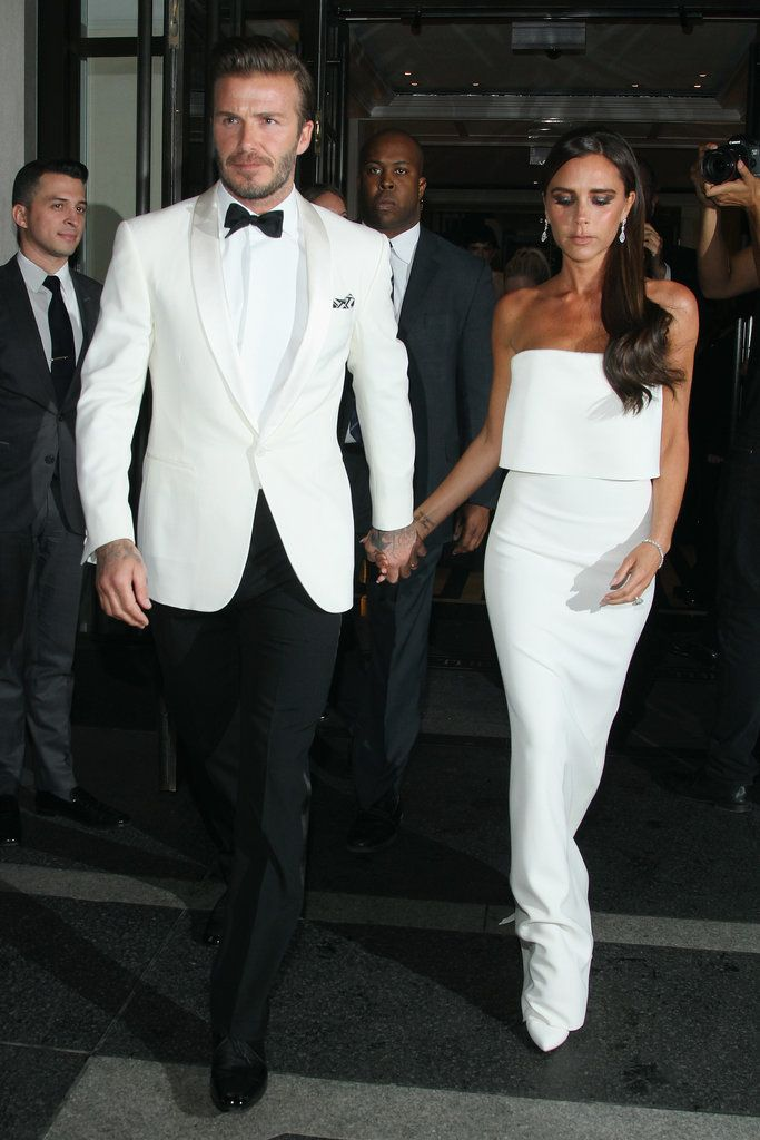 Victoria and David Beckham Are a Picture-Perfect Met Gala Couple: Victoria Beckham had her husband, David Beckham, by her side when she arrived at the 2014 Met Gala in NYC on Monday, and they even shared a kiss on the red carpet.