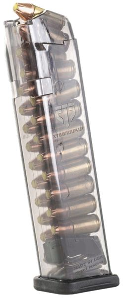 ETS Group - Translucent Glock 9mm/22 round mag Find our speedloader now!  www.raeind.com  or  http://www.amazon.com/shops/raeind